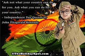 Happy Independence Day quotes on India