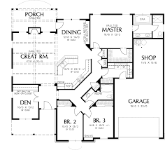 One Story Plan With Car Garage Small Living Design  Daypad coOne Story Plan With Car Garage