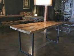 dining table steel legs  reclaimed wood dining table metal legs
