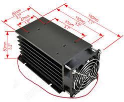 Heat Sink for <b>Single Phase 100A</b> or 3 Phase 80A <b>SSR</b> [HS80 ...