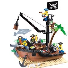 <b>Enlighten 178Pcs</b> LegoING <b>Pirates of</b> the Caribbean Scrap Dock ...