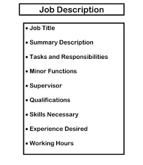 job descriptions  a basic tool on the dairy   dairy extension    example of items that should be included in a job description