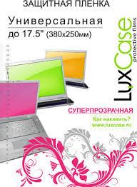 Универсальная защитная пленка <b>Luxcase</b> 17,5'' 380х250 <b>мм</b> ...
