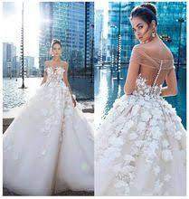 <b>LORIE Princess Wedding</b> Dress Elegant Appliqued with Flowers A ...