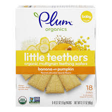 Plum Organics <b>Little Yums Teething</b> Wafers Pumpkin & Banana - 6 ct