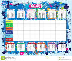 timetable of day by day activities for school or university an school timetable and calendar stock image
