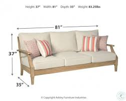 Clare View Beige <b>Outdoor Sofa with Cushion</b> from Ashley | Coleman ...