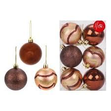 <b>Набор шаров Новогодняя сказка</b>, 6 штук, 6 см., шоколад — купить ...