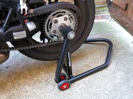r g elevation paddock stands review morebikes r g elevation rear paddock stand