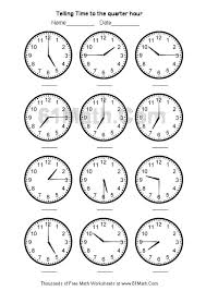 telling time worksheets | Telling Time to the quarter hour Create ...telling time worksheets | Telling Time to the quarter hour Create Your Own Math Worksheets