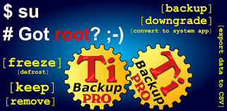 Titanium Backup PRO Key root needed – Applications sur Google Play