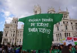 Resultado de imagen de IMAGENES MANIFESTACIONES de verde CONTRA EL PP EN MADRID POR LOS RECORTES EN LA ENSEÑANZA