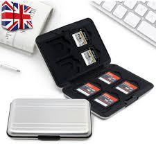 Memory Card Cases 4 <b>TF Micro SD</b> Cards Storage Box Aluminum ...