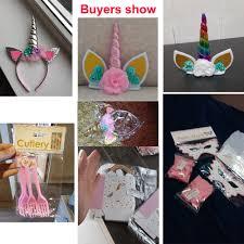 <b>Unicorn Party Decoration Disposable</b> Tableware Kit Mermaid Hair ...
