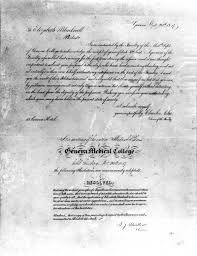 elizabeth blackwell that girl there is doctor of medicine admission handwritten letter of admission from the geneva medical college to elizabeth blackwell accepting her into their