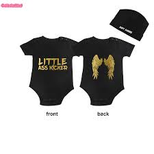 <b>Culbutomind</b> LITTLE ASS KICKER Black Baby Grow Jumpsuit Baby ...