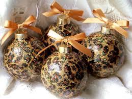 Leopard Animal <b>Print Glass Christmas</b> Ornaments | Handmade ...