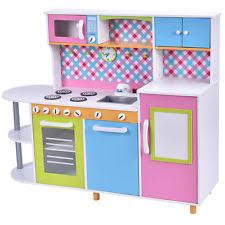 childrens wooden kitchen pretend play toy