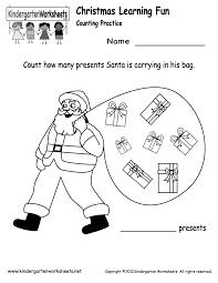 Santa Counting Worksheet - Free Kindergarten Holiday Worksheet for ...Kindergarten Santa Counting Worksheet Printable