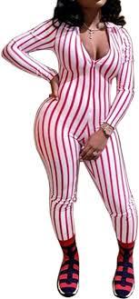 Sedrinuo <b>Women's</b> Sexy Deep V Neck <b>Striped Jumpsuits</b> Long ...