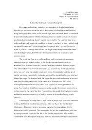 truth perception essay truth perception essay david batchelor november   period  senior seminar mr clover behind the
