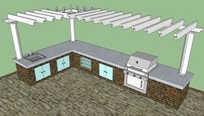 gallery outdoor kitchen lighting: gallery of outdoor kitchen ideas designs l shaped split level pictures plans gallery exterior cool design idea with light green cabinet silver doors cream
