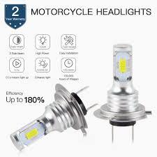 <b>Bevinsee</b> H7 <b>LED Motorcycle</b> Headlight H1 H3 H4 H7 H11 BA20D ...
