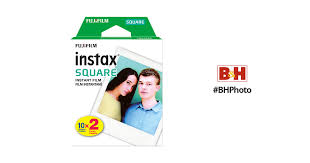 <b>FUJIFILM</b> INSTAX <b>SQUARE</b> Instant <b>Film</b> (20 Exposures) 16583664 ...