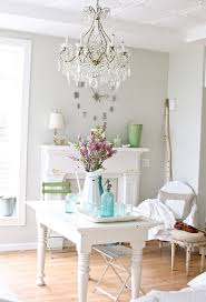 country shabby chic decor dining room style with distressed furniture grey wall neutral chic shabby french style distressed