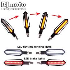 BJMOTO 24 <b>LED Motorcycle Turn</b> Signal Indicator Blinkers <b>12V</b> ...