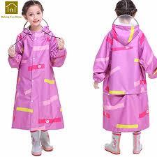 Children Pink <b>Long Raincoat Toddler</b> Baby Boy Japanese Rain ...