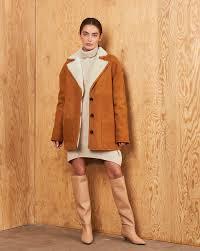 Patch pocket shearling <b>jacket</b> — <b>12Storeez</b>