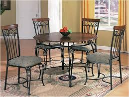 round brown wooden table top beautiful combination wood metal furniture