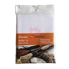 <b>Канва</b> для вышивания Aida 16 (63 кл/10 см) белая <b>50х50</b> см ...