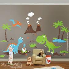 Dinosaurs <b>Wall Decals</b> ,Dino <b>Land</b> Wall <b>decal</b>, Dinosaurs Wall ...