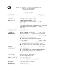teacher resume examples objective customer service resume example teacher resume examples objective resume objective examples job interview career guide of teacher resume for job