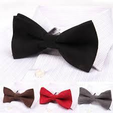 <b>Men Solid Double Layer</b> Formal Suit Corduroy Business Bow Tie ...