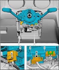 Removing and installing <b>steering column</b> switch <b>module</b>, Valeo