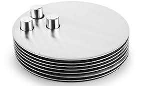 Buy Profusion Stainless Steel <b>Round Coaster</b> with Pins on Middle ...