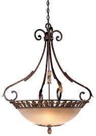 metropolitan lighting n6242 355 zaragoza bowl pendant shown in golden bronze with salon scavo glass bowl pendant lighting