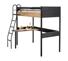 Купить кровать-чердак <b>Cilek Black</b> со столом, цены в Москве на ...