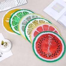 Round Fruit Printed Ice Cushion Summer Cool Waterproof For Office ...
