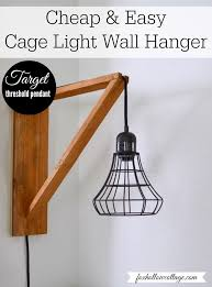 target hack diy home decor make a wood cage light wall hanger for about cage pendant lighting