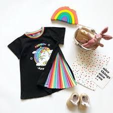 Tonytaobaby Parent-child Matching Dress Rainbow Pleated Dress ...