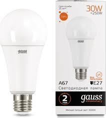 <b>Лампочка Gauss</b> Elementary LED, A67, E27, 30W, <b>73219</b>