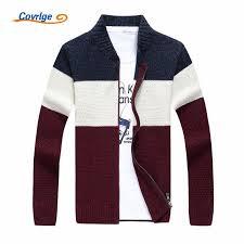 <b>Covrlge</b> 2018 <b>Men's</b> Sweaters Fashion Warm Winter Zipper <b>Stripe</b> ...