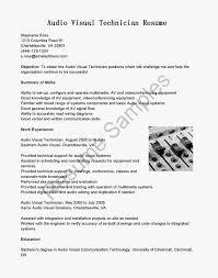 audio visual technician resumes template audio visual technician resumes