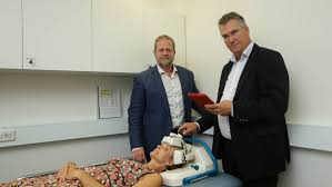 helmet trial could be a head start for stroke newcastle herald potential hmri director michael nilsson and mikael persson the stroke finder helmet to be