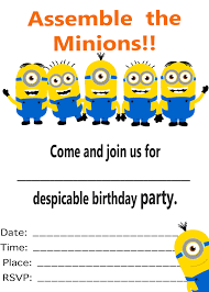 minion birthday party invitations com minion birthday party invitations intended for offering special remarkable on your full of pleasure birthday 6