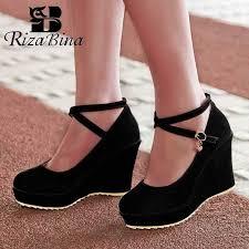 <b>RIZABINA Women</b> Basic Pumps Crystal High Heel Shoes <b>Women</b> ...